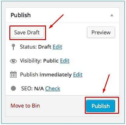 Publish Blog Wordpress