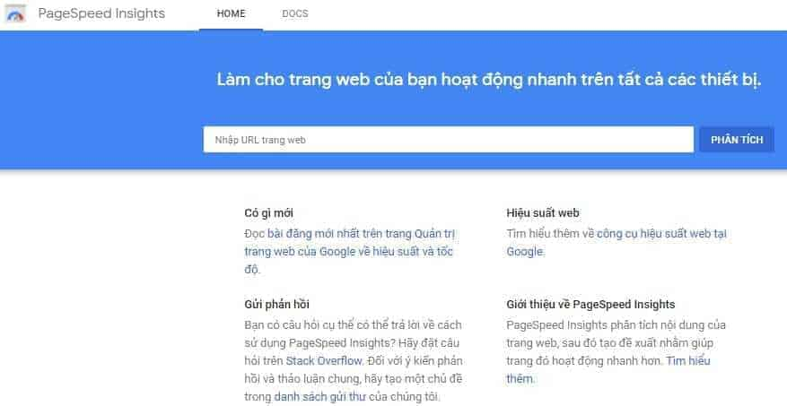 Tool Hỗ Trợ Seo Google Pagespeed Insights